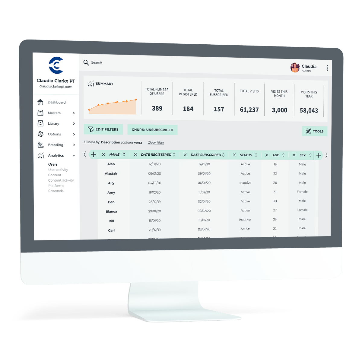 Claudia Clarke - Users Analytics