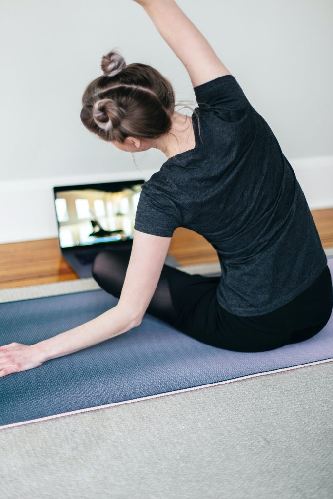 Learning yoga poses at home